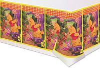 Скатерть детская праздничная одноразовая Винни Тигра Пятачок