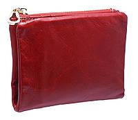Кожаное женское портмоне  3329 red
