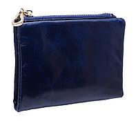 Кожаное женское портмоне  3329 blue