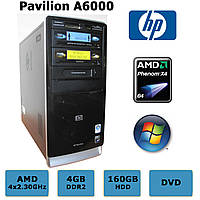 HP Pavilion - 4 ЯДРА Phenom X4 9650 /4GB DDR2 /160GB HDD