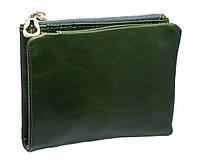 Кожаное женское портмоне  3329 green