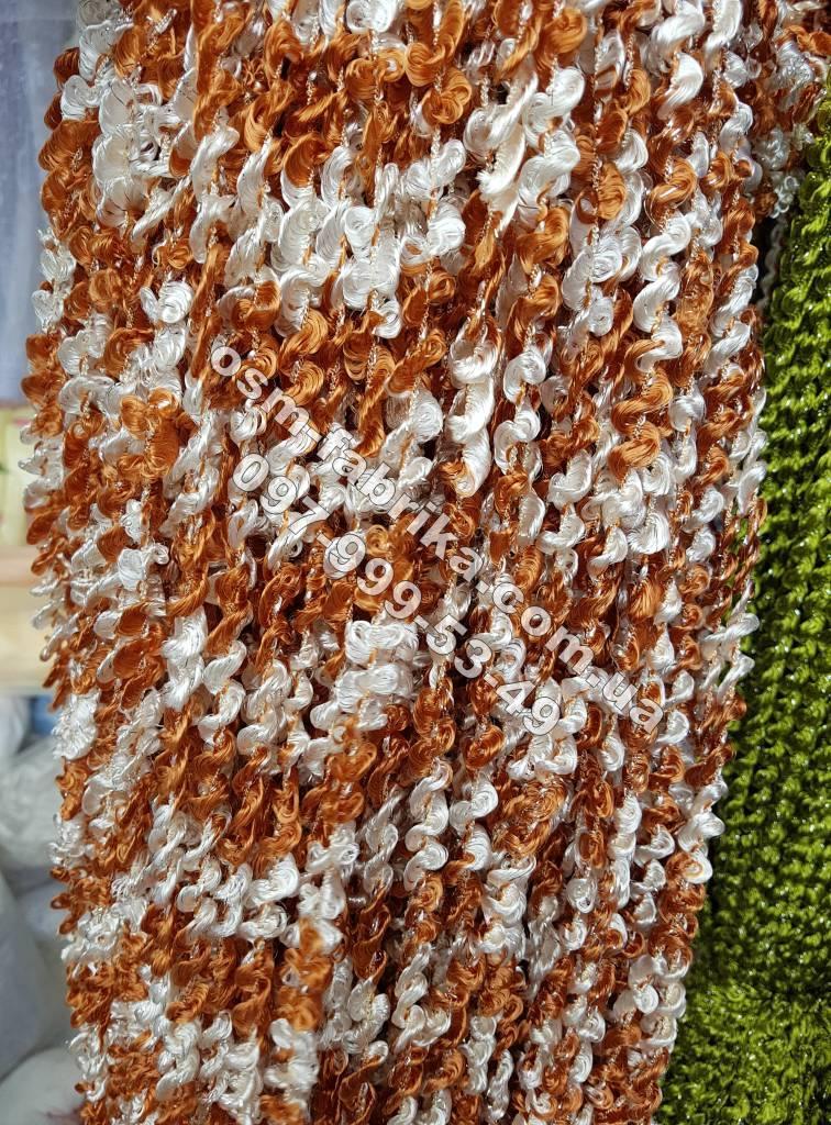 Двухцветные шторы-нити макароны новинка сезона
