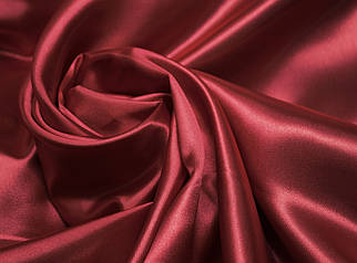 Ткань атлас бордовый