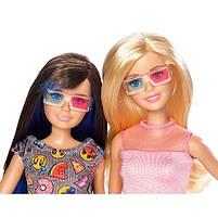 Набір ляльок Барбі і Скіппер в 3D окулярах серії Барбі і її сестри DWJ65, фото 3
