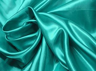 Ткань атлас бирюзовый