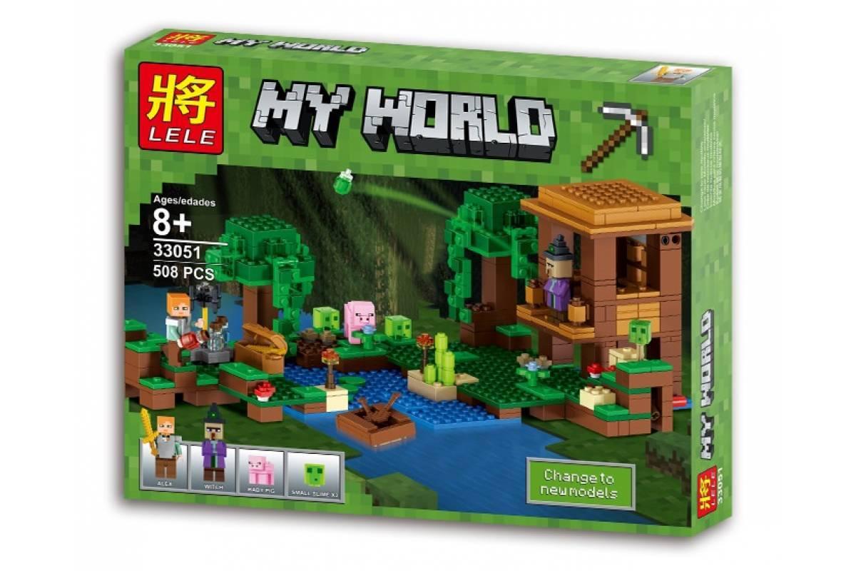 """Конструктор Lele 33051 Minecraft \ Майнкрафт (реплика Lego 21133) """"Хижина ведьмы"""", 508 дет."""