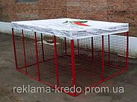 """Торговая палатка """"клетка"""" 2х2 м. для арбузов и дынь"""