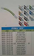 Ручка ATA 128мм хром-горіх