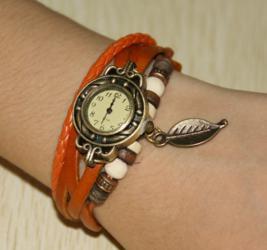 Часы Браслет (оранжевые)