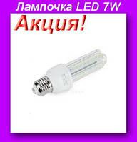 LED 7W,Лампочка LED 7W,Длинная светодиодная энергосберегающая,Лампочка LED!Акция