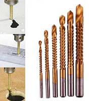 Сверла фрезерные набор 3, 4, 5, 6, 6.5, 8 мм по дереву, жести, пластику