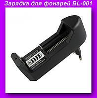 Зарядка BL-001,Универсальный сетевой адаптер для фонарей BL-001!Опт