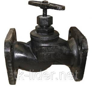 Клапан запорный чугунный фланцевый 15кч19п Ду25 Ру16, фото 2