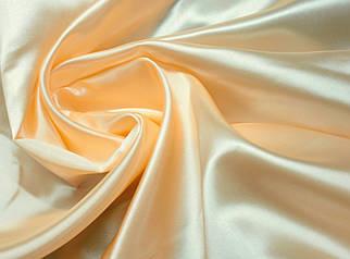 Ткань атлас персиковый