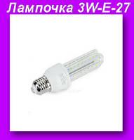 Лампочка LED LAMP 3W-E-27, Длинная, светодиодная энергосберегающая,Лампочка LED