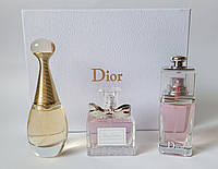 Подарочный набор духов Christian Dior 3 х 30 ml : Jadore, Blooming Bouquet, Addict to Life