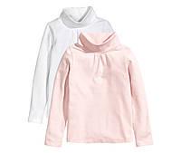 Гольф девочке,размер 4-6 лет,детский гольф,белый,розовый,набор
