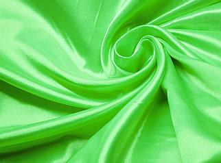 Ткань атлас ярко- салатовый