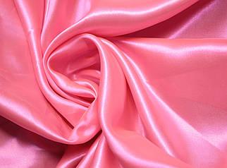 Ткань атлас ярко- розовый
