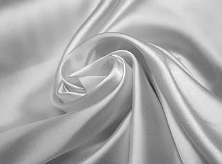Ткань атлас светло- серый (серебро)