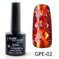 Гель-лак на прозрачной основе Lady Victory (ВИТРАЖНЫЙ) GPE-02