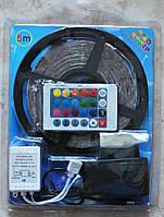 Светодиодная лента SMD 3528 (60 LED/m) RGB, 5 метров, комплект