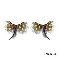 Ресницы декоративные накладные Lady Victory EYD-N-31 из натуральных перьев