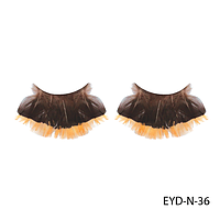 Ресницы декоративные накладные Lady Victory EYD-N-36 из натуральных перьев
