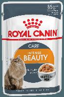 Royal Canin Intense Beauty в желе 85г*12шт - паучи для поддержания красоты  шерсти кошек