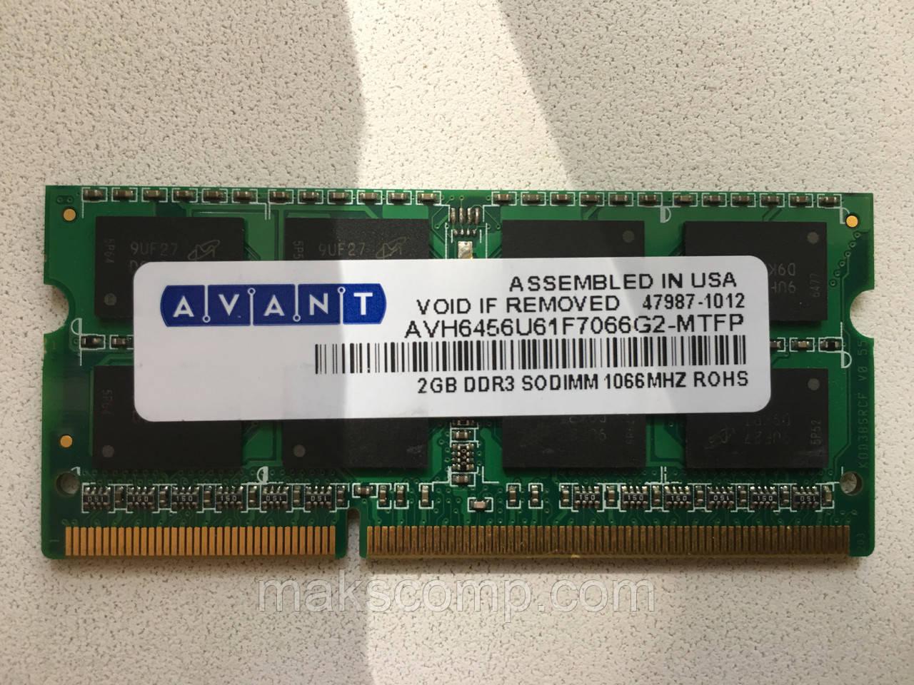 Память Micron 2Gb So-DIMM PC3-8500S DDR3-1066