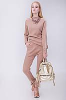 Костюм вязаный женский джемпер и брюки модный