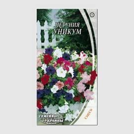 Насіння Квіти Петунія Унікум суміш 0,2 г Насіння України, фото 2