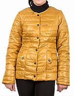 Куртка деми на кнопках  42, 44, 46, 48, желтый