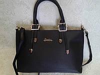 Женская сумка вместительная черного цвета (Турция)