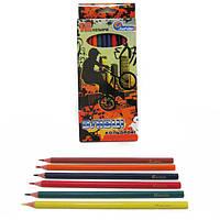 """1051F-12 Карандаши пластик. """"Extreme"""" 12 цв., в картоне, европ. J. Otten"""