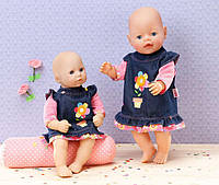 Джинсовое платье для куклы Zapf Creation Baby born 870006