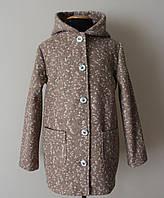 Детское пальто на девочку 7-16 лет весна- осень букле