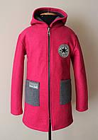 Пальто на девочку подростка 7-16 лет