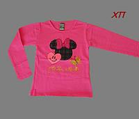 """Кофта с паетками для девочки """"Минни Маус"""" (белая, розовая) на 2-3 года, 6-7 лет, 8-9 лет"""
