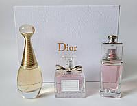 Подарочный набор духов Christian Dior 3 х 30 ml : Jadore, Blooming Bouquet, Addict to Life (реплика)