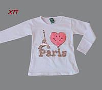 """Кофта с паетками для девочки """"Paris"""" на 2-3 года, 6-7 лет"""
