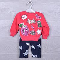 """Костюмчик детский утепленный """"Apple"""". 1-4 года. Коралловый. Оптом."""