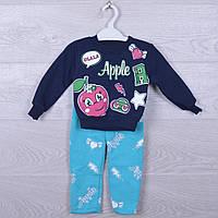 """Костюмчик детский утепленный """"Apple"""". 1-4 года. Темно-синий. Оптом."""