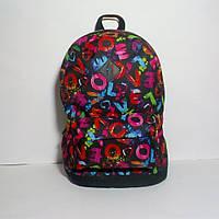 """Женский рюкзак """"Буквы"""". LOVE. Принт №5. Стильный, повседневный."""