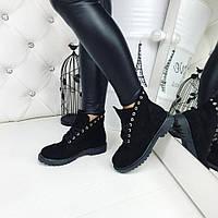Осенние ботинки женские замшевые