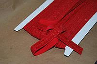 Бейка резинка трикотаж парча красный