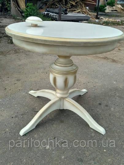 Стол круглый обеденный.Кухонный стол на одной ноге