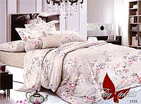 Комплект постельного белья, поплиновый, размер евро макси, с компаньоном, Евро maxi,