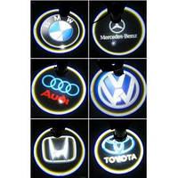 Светодиодная подсветка на двери с логотипом автомобиля  Opel, Mitsubishi, Toyota,Chevrolet, skoda