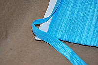 Бейка резинка трикотаж голубой